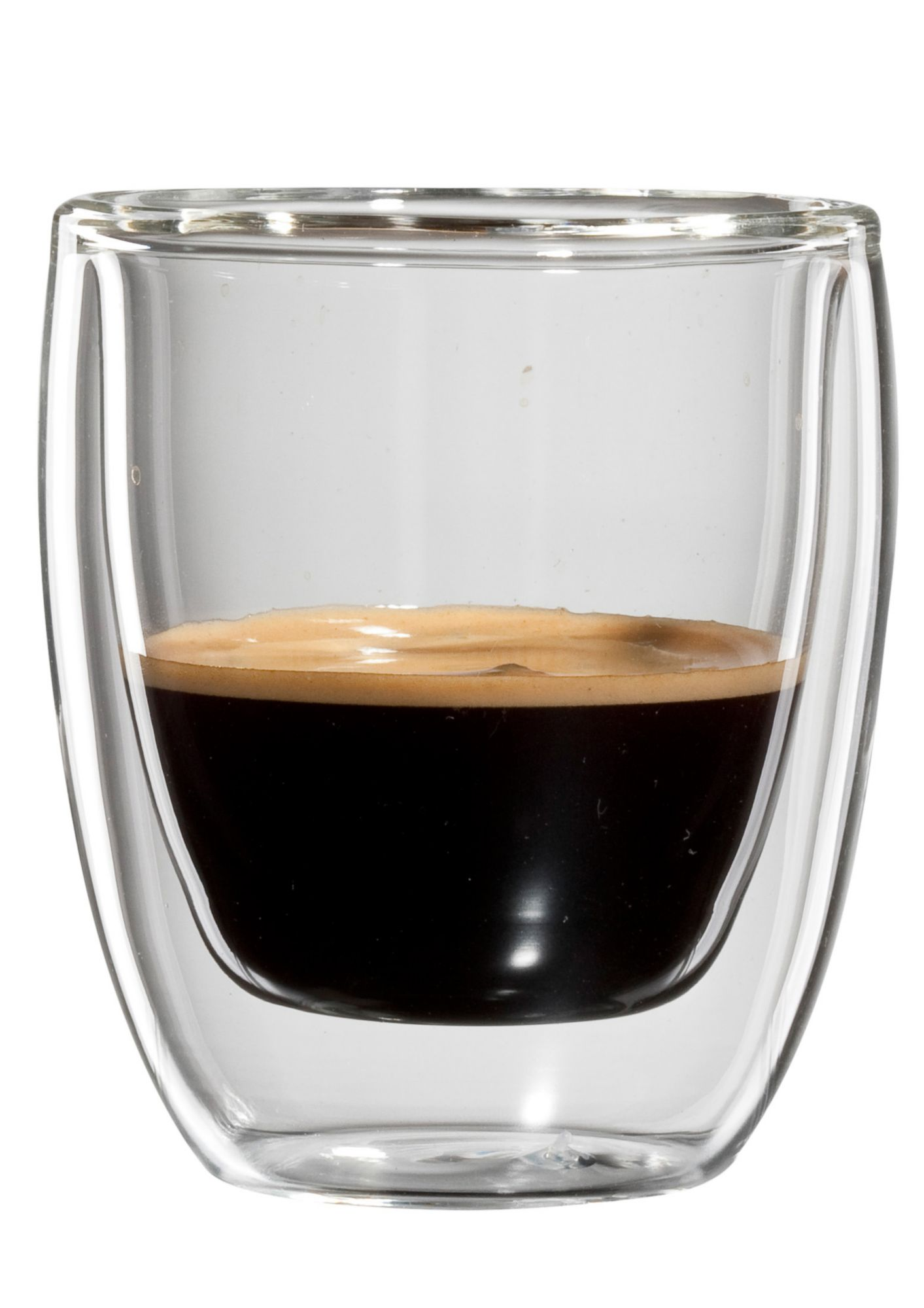 BLOOMIX bloomix Espresso-Glas, 4er Set, doppelwandig, »Roma«, 80 ml
