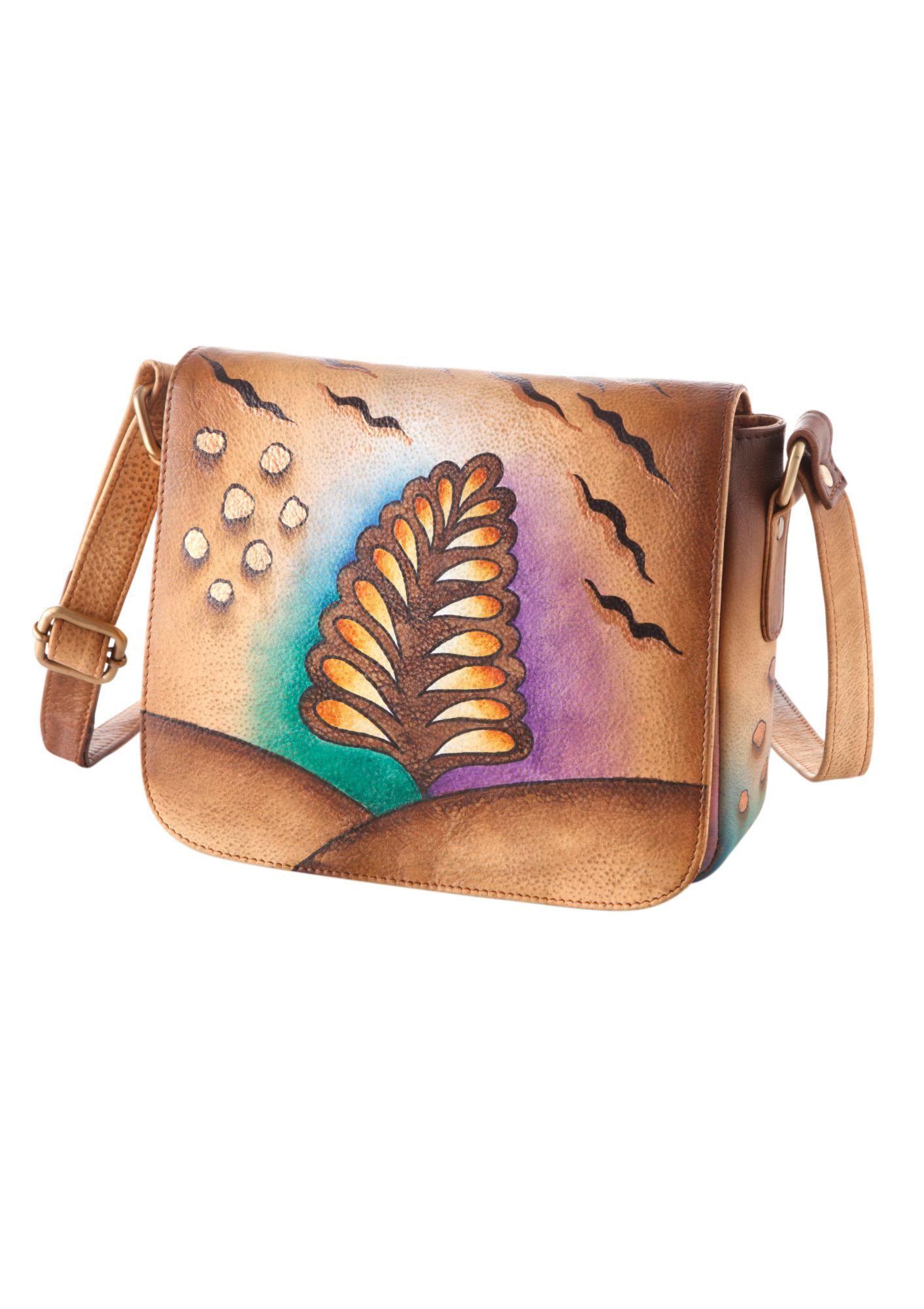 ART CRAFT Art & Craft Umhängetasche aus handbemaltem Leder
