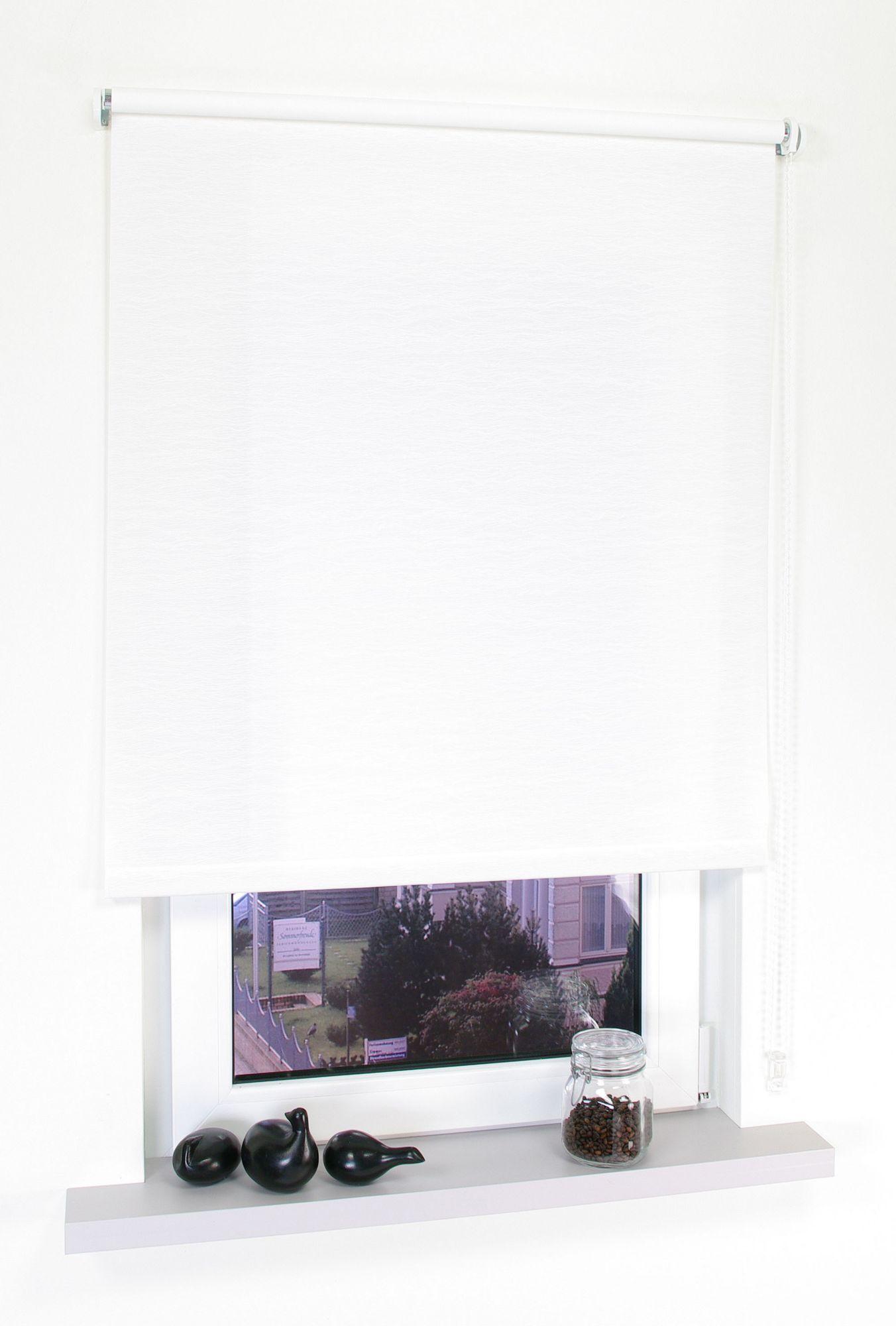 Seitenzugrollo, Liedeco, »Kettenzugrollo Dekor Faden«, Lichtschutz, Fixmaß