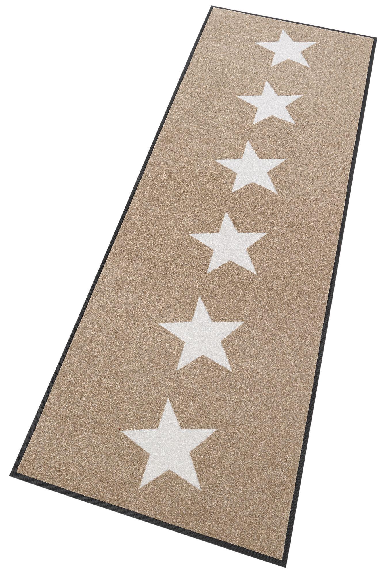 Läufer, »Stars«, wash+dry by Kleen-Tex, rechteckig, Höhe 7 mm, gedruckt