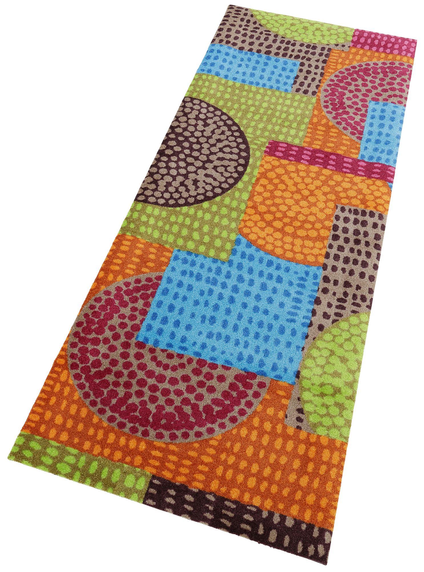 Läufer, »Ethno Pop«, wash+dry by Kleen-Tex, rechteckig, Höhe 9 mm, gedruckt