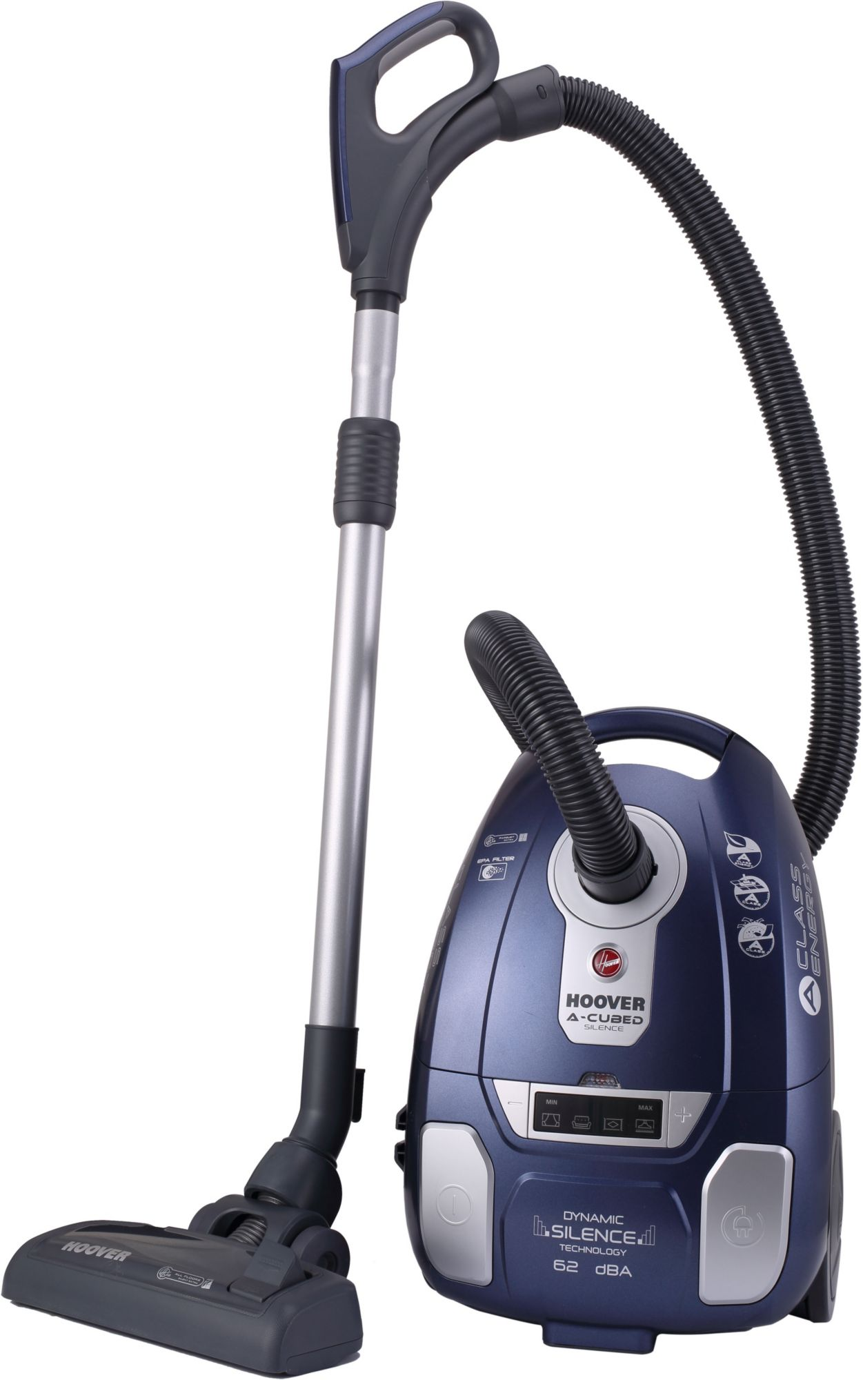 HOOVER Hoover Bodenstaubsauger mit Staubbeutel A-cubed Silence AC73_AC20