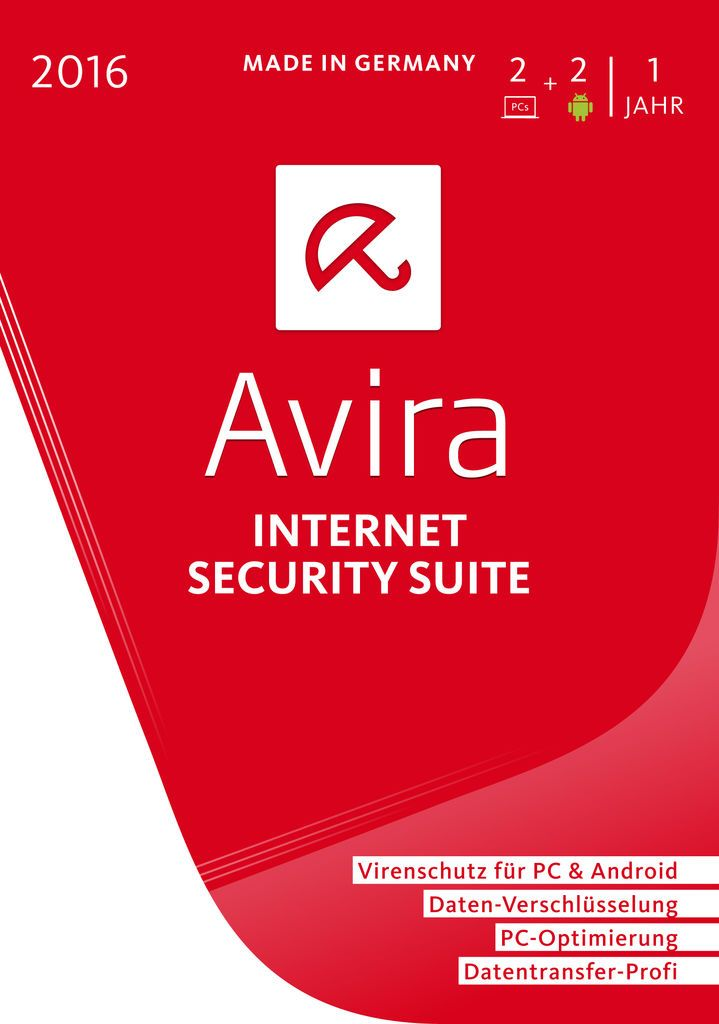 AVIRA Avira Internet Security Suite 2016 (2 Plätze) (PC MAC)