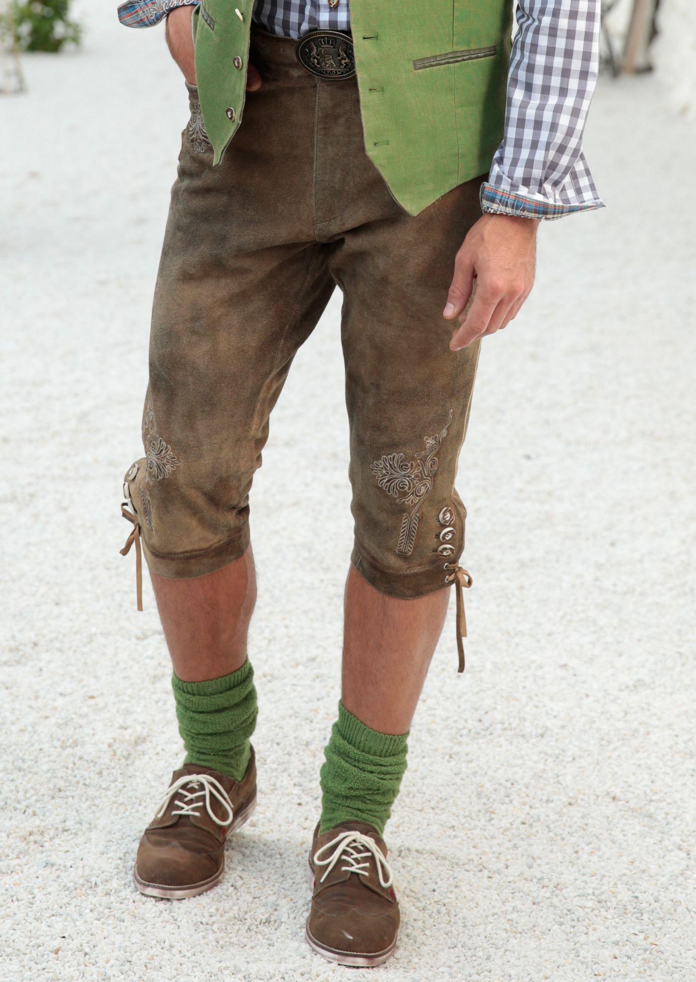 COUNTRY LINE Country Line Trachten-Lederhose 3/4 Herren im Kniebundstyle