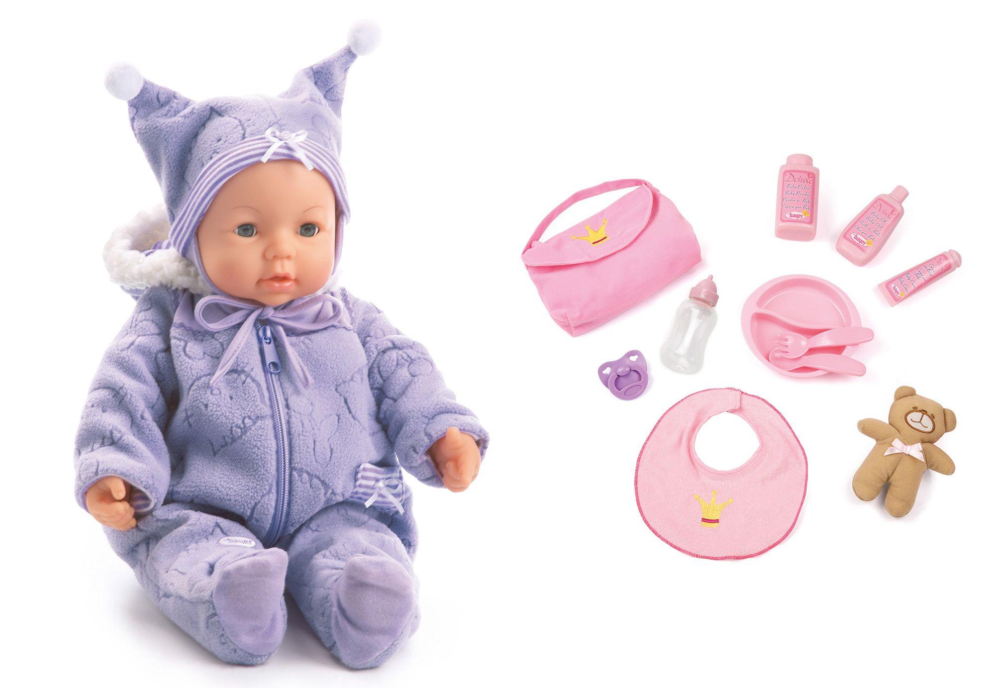 BAYER Bayer Design Babypuppe mit Funktion inkl. Zubehör, »Piccolina Magic Eyes«