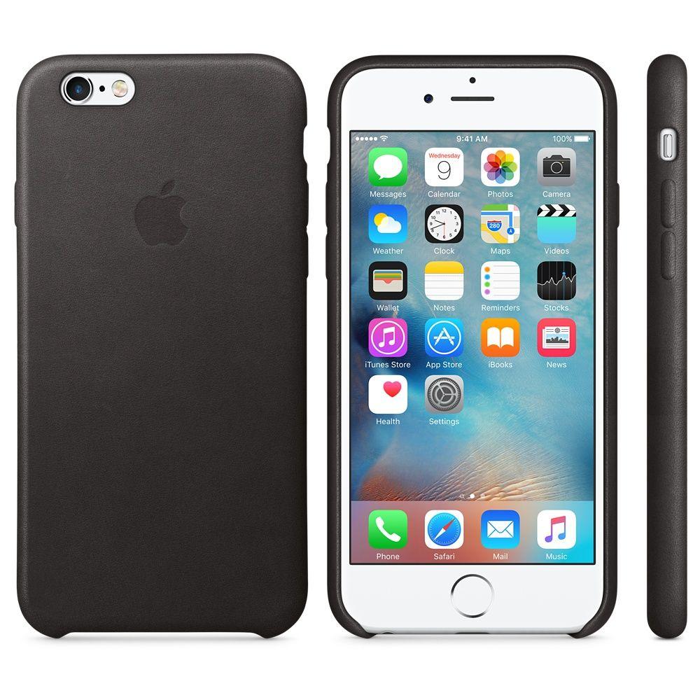 APPLE Apple Case »iPhone 6s Leder Case Schwarz«