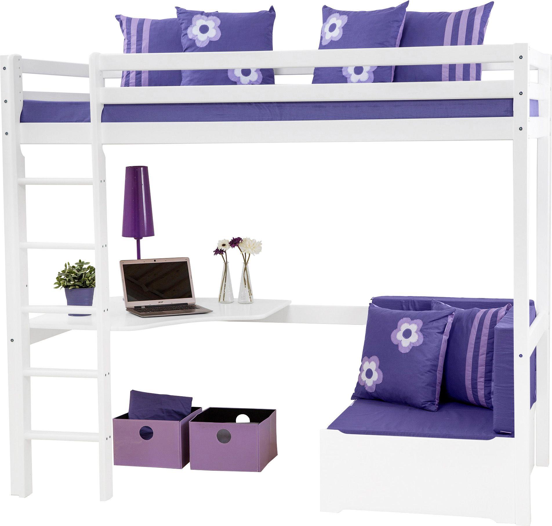 HOPPEKIDS Hochbett, Hoppekids, »Purple Flower«