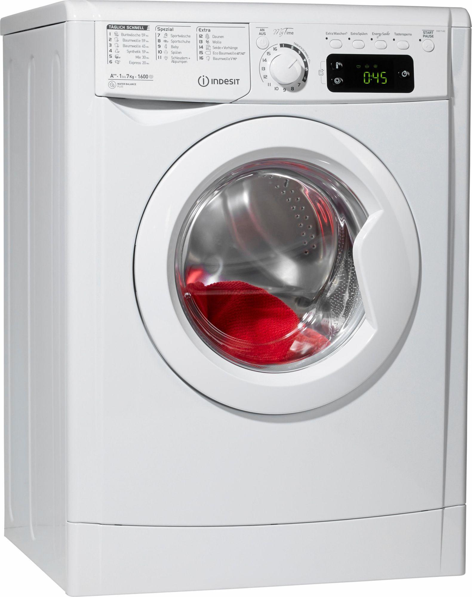 INDESIT Indesit Waschmaschine EWE 71682 W DE, A++, 7 kg, 1600 U/Min