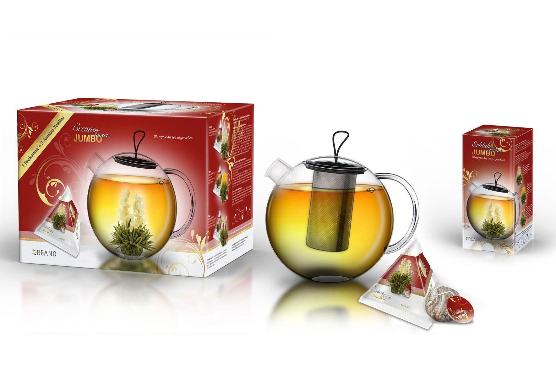 CREANO Creano Erblüh-Teelini JUMBO, »Weißer Tee«