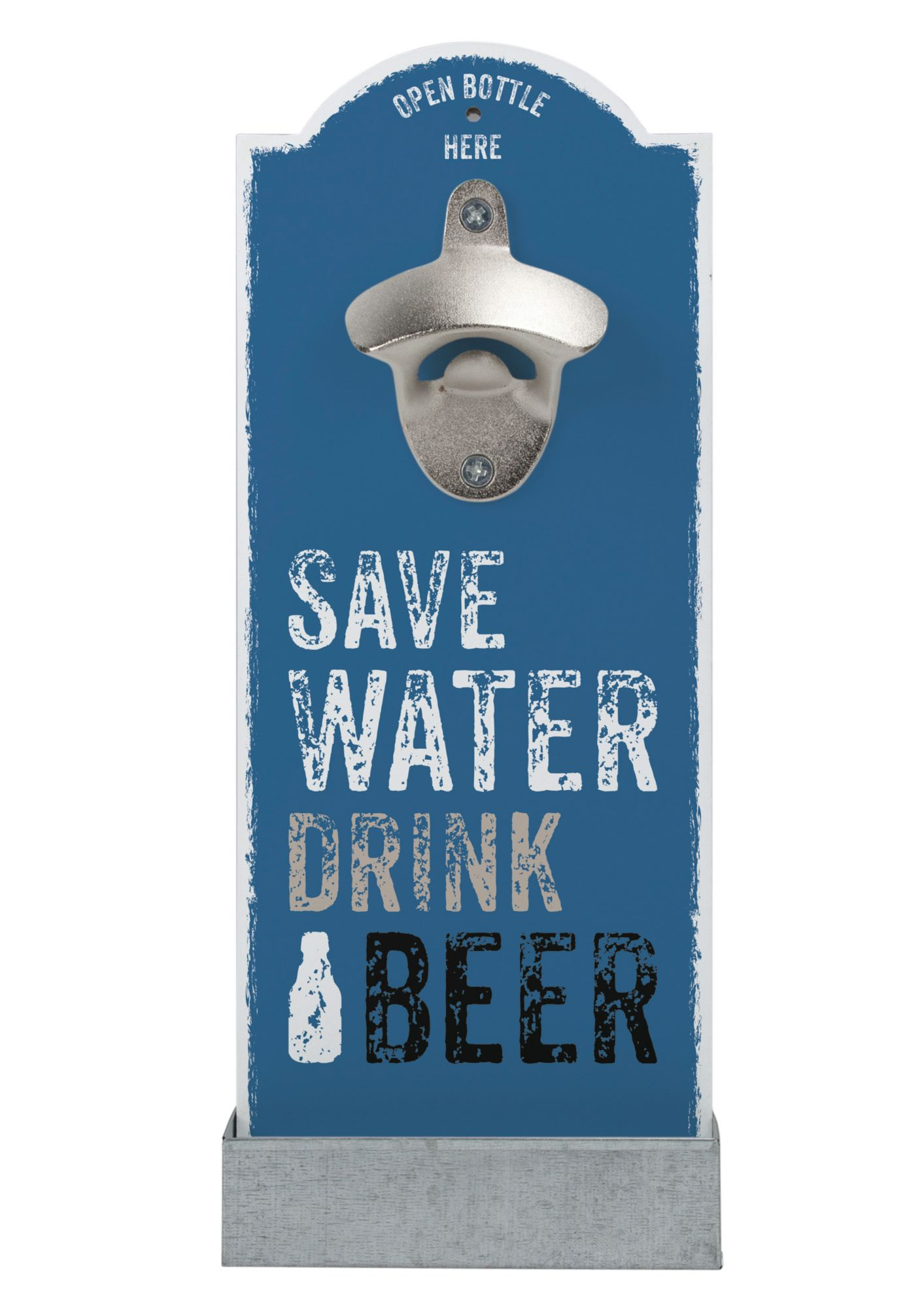 CONTENTO contento Wand-Flaschenöffner, »Save Water«