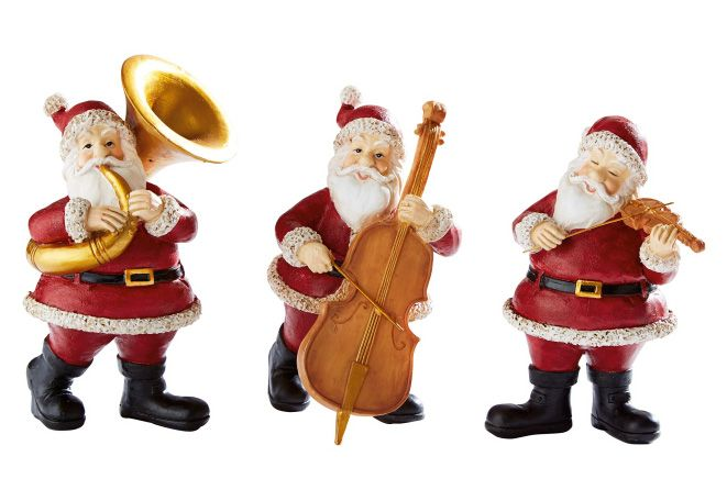 MAILORD Best of home Dekofiguren-Set Musizierende Santas 3-teilig
