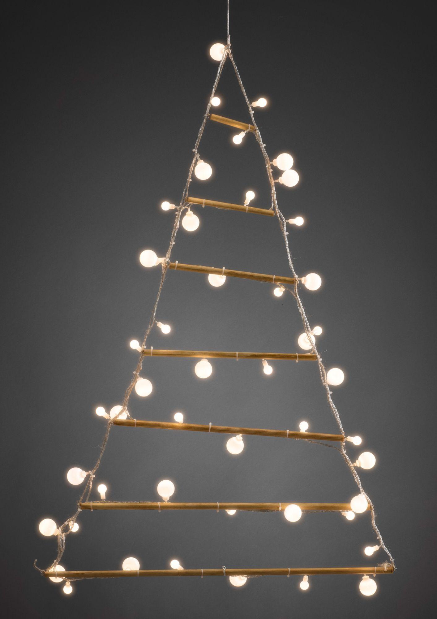 KONSTSMIDE Dekorationsleuchte LED-Holzpyramide