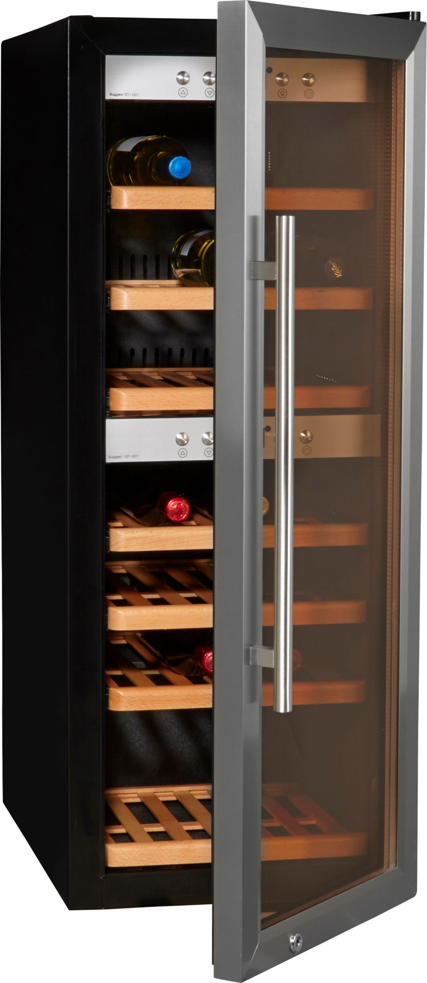 CASO DESIGN CASO Design Weinkühlschrank »WineMaster 38«, Höhe 102,5 cm, für 38 Bordeauxflaschen á 0,75l
