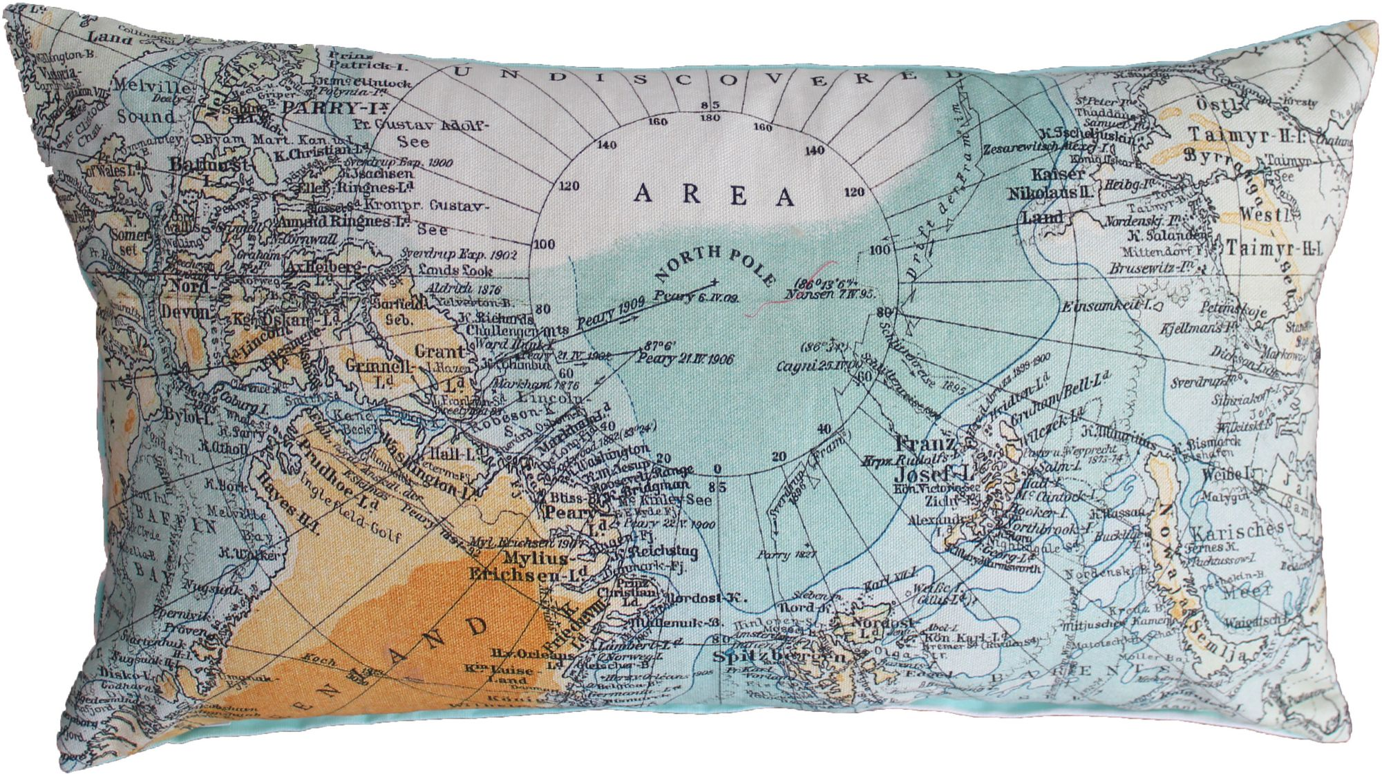 COVERS CO Dekokissen, Covers & Co, »North Pole«, mit Weltkarte