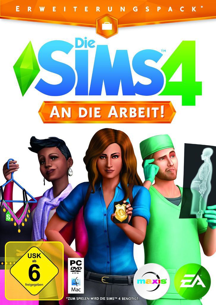 ELECTRONIC ARTS Die Sims 4 - Add On - An die Arbeit Add-On (PC Win) DE (Download)