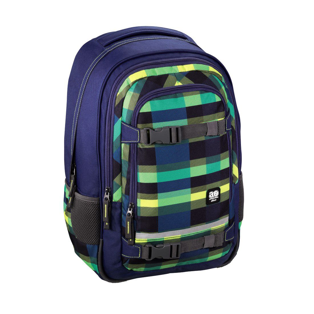 ALL OUT All Out Rucksack Selby, Summer Check Green