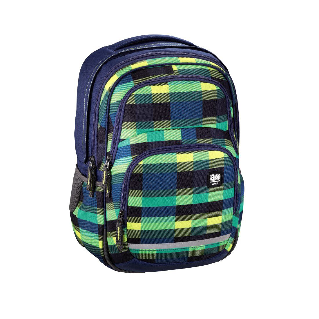 ALL OUT All Out Rucksack Blaby, Summer Check Green