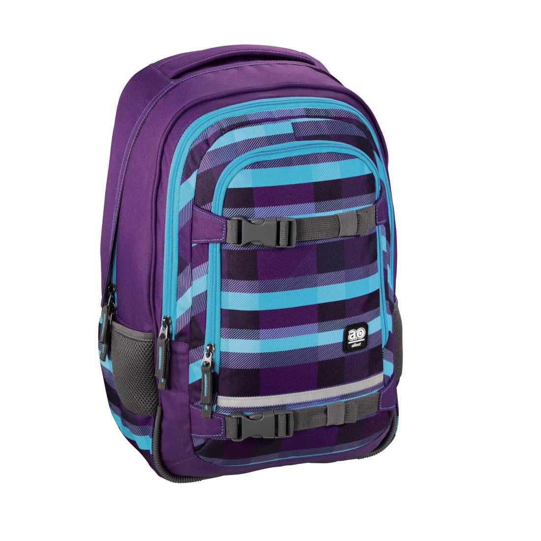ALL OUT All Out Rucksack Selby, Summer Check Purple