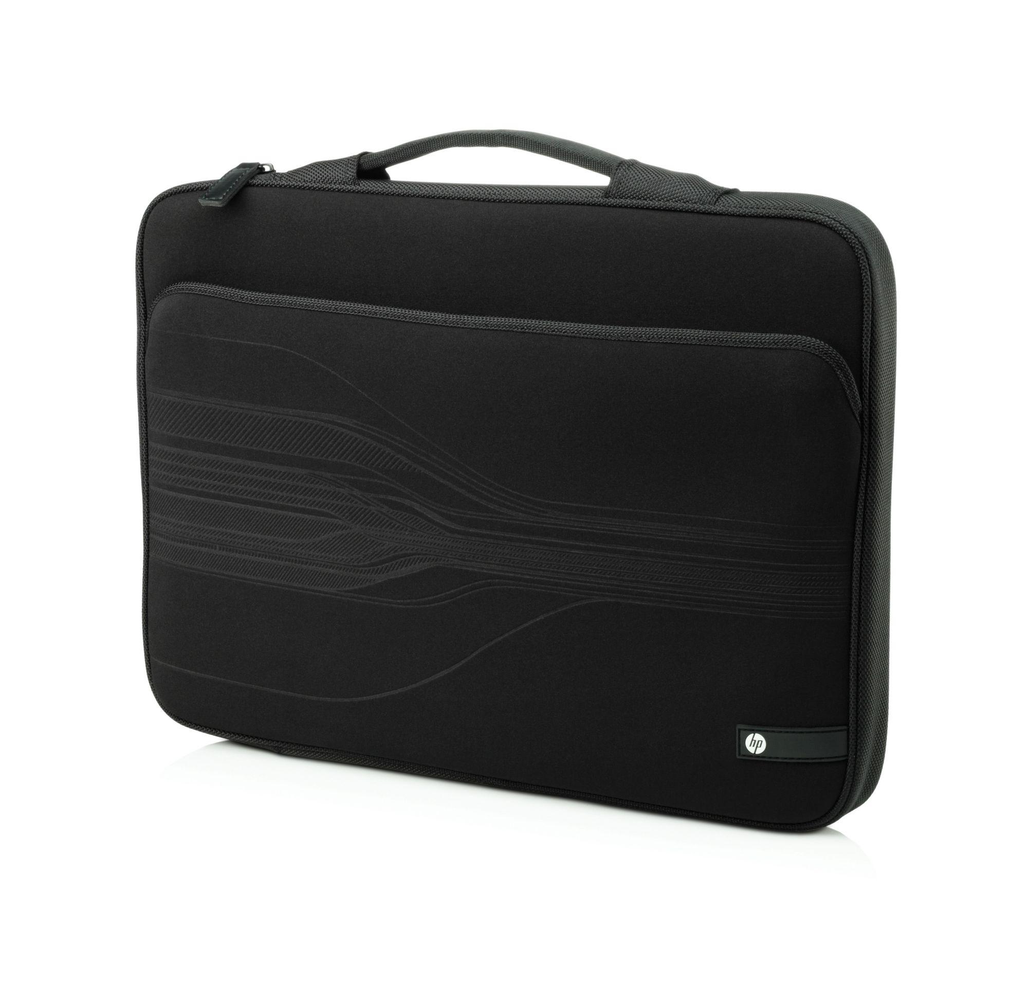 "HP  14 Black Stream Notebook Sleeve - Notebook-Hülle - 35.6 cm ( 14"" ) - Schwarz - für Envy 14, Envy x2, Folio 13, Mini 200"