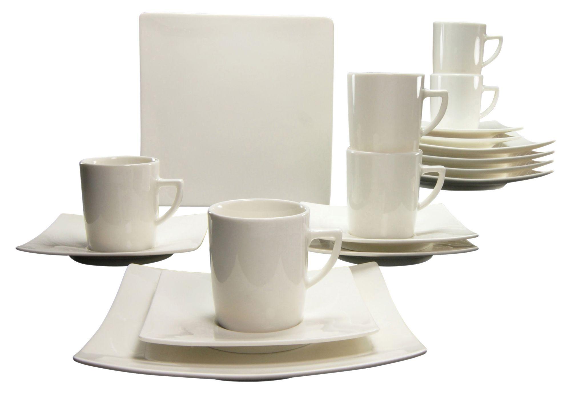 CREATABLE CreaTable Kaffeeservice, Porzellan, 18 Teile, »PURE«