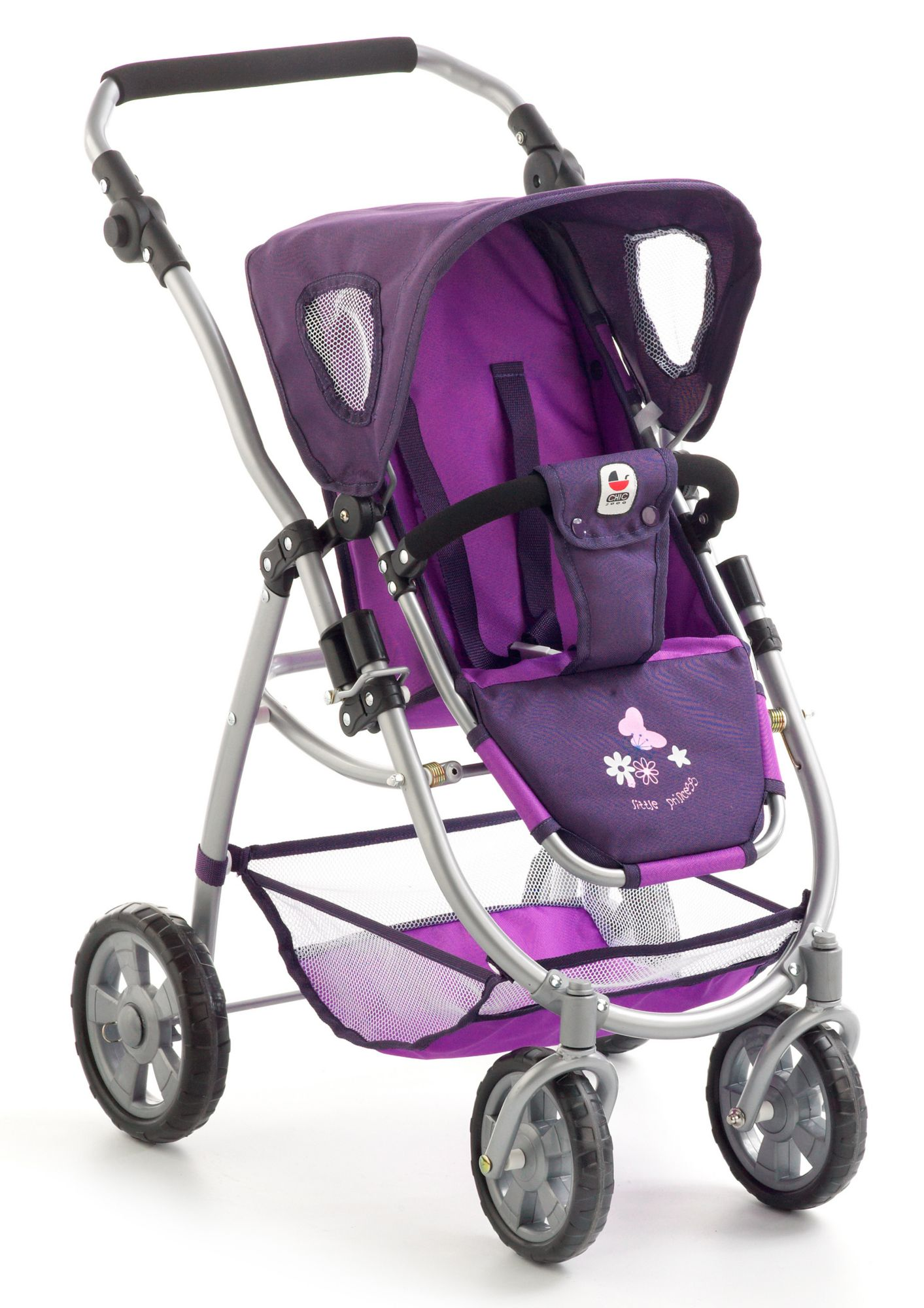 CHIC2000  2-in-1 Puppenwagen, »Emotion, Pflaume«
