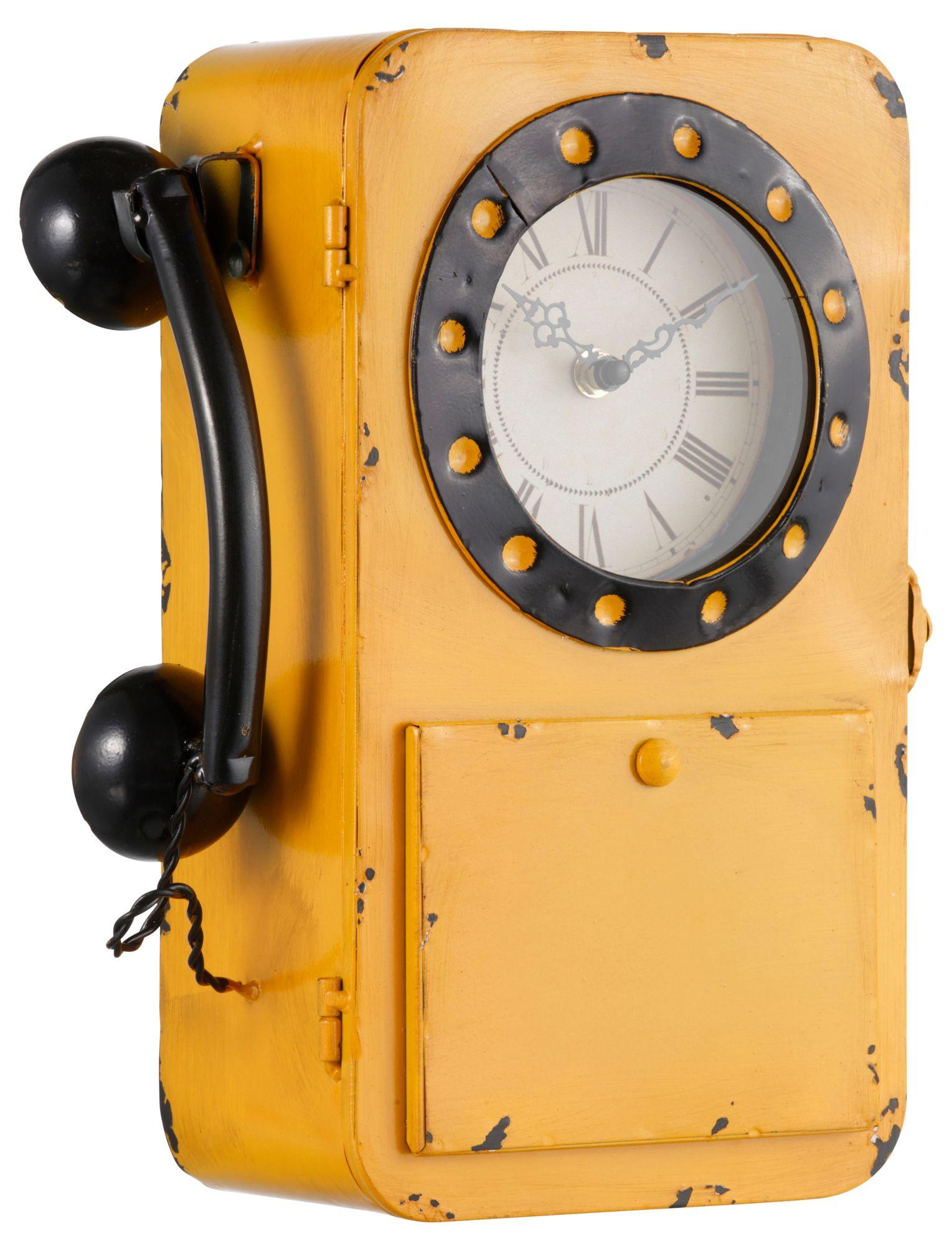 HOME AFFAIRE Best of home Metall-Wanduhr Telefon 32 cm x 24 cm