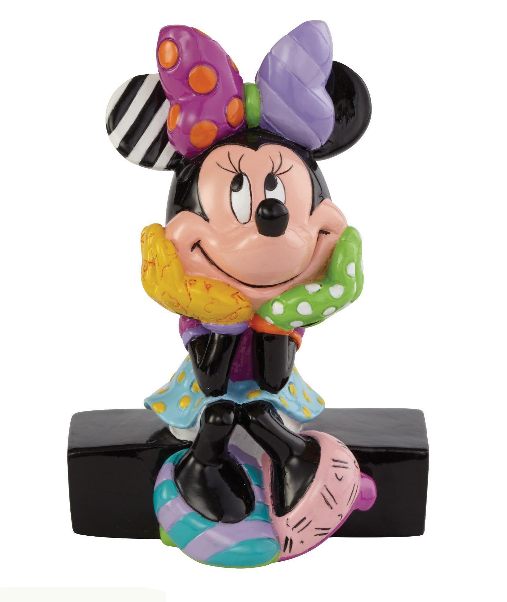 DISNEY BY BRITTO Disney by Britto Figur PopArt sitzend auf Sockel, »Minnie Mouse«