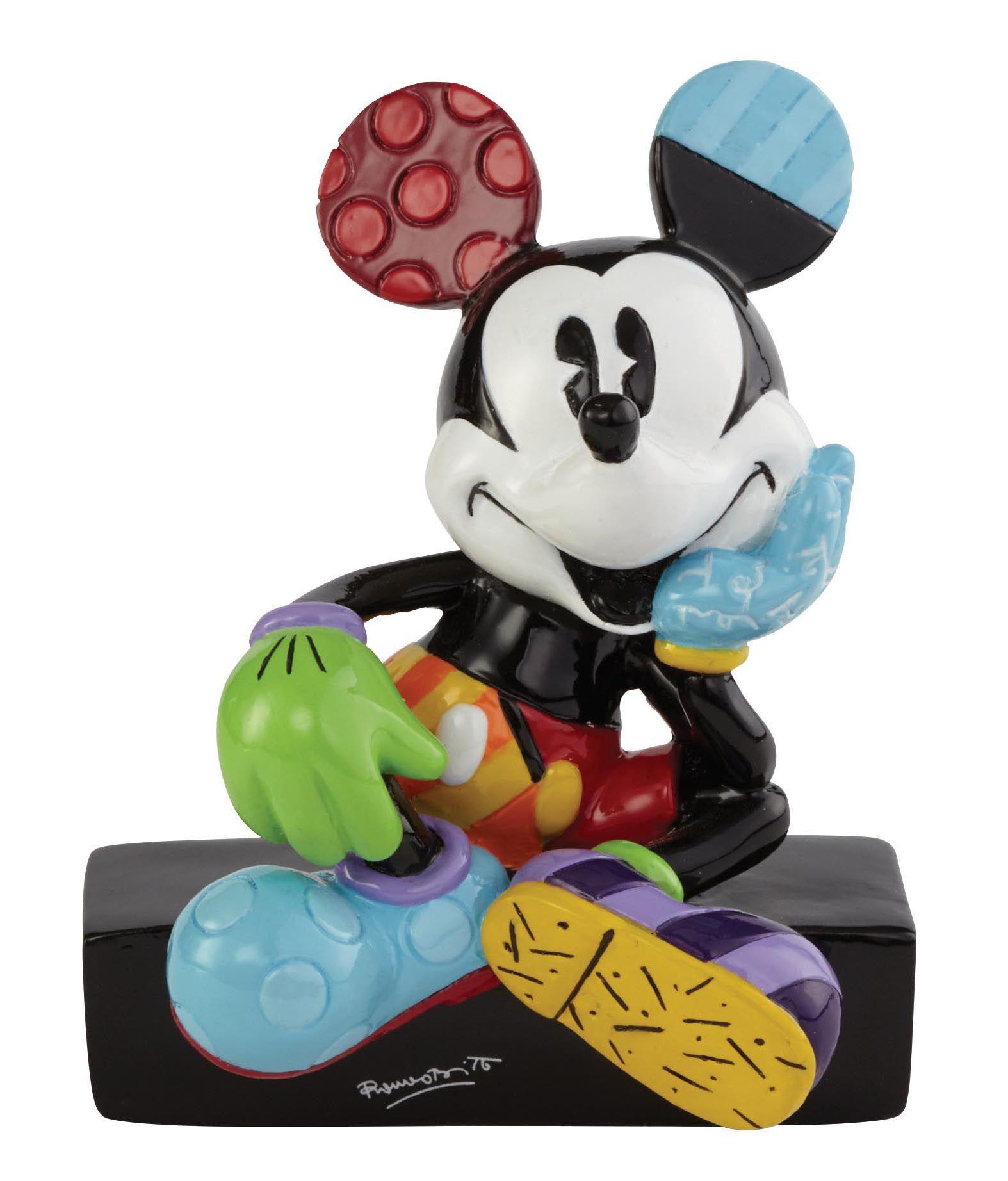 DISNEY BY BRITTO Disney by Britto Figur PopArt sitzend auf Sockel, »Mickey Mouse«