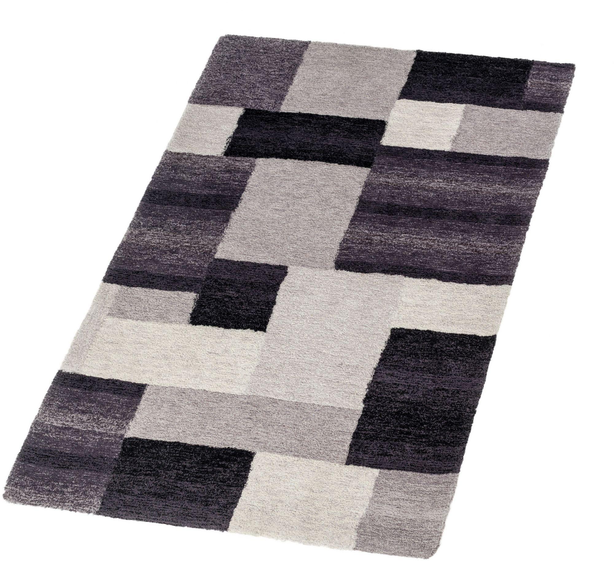 ASTRA Hochflor-Teppich, Astra, »Livorno Karo«, Höhe 25 mm, getuftet