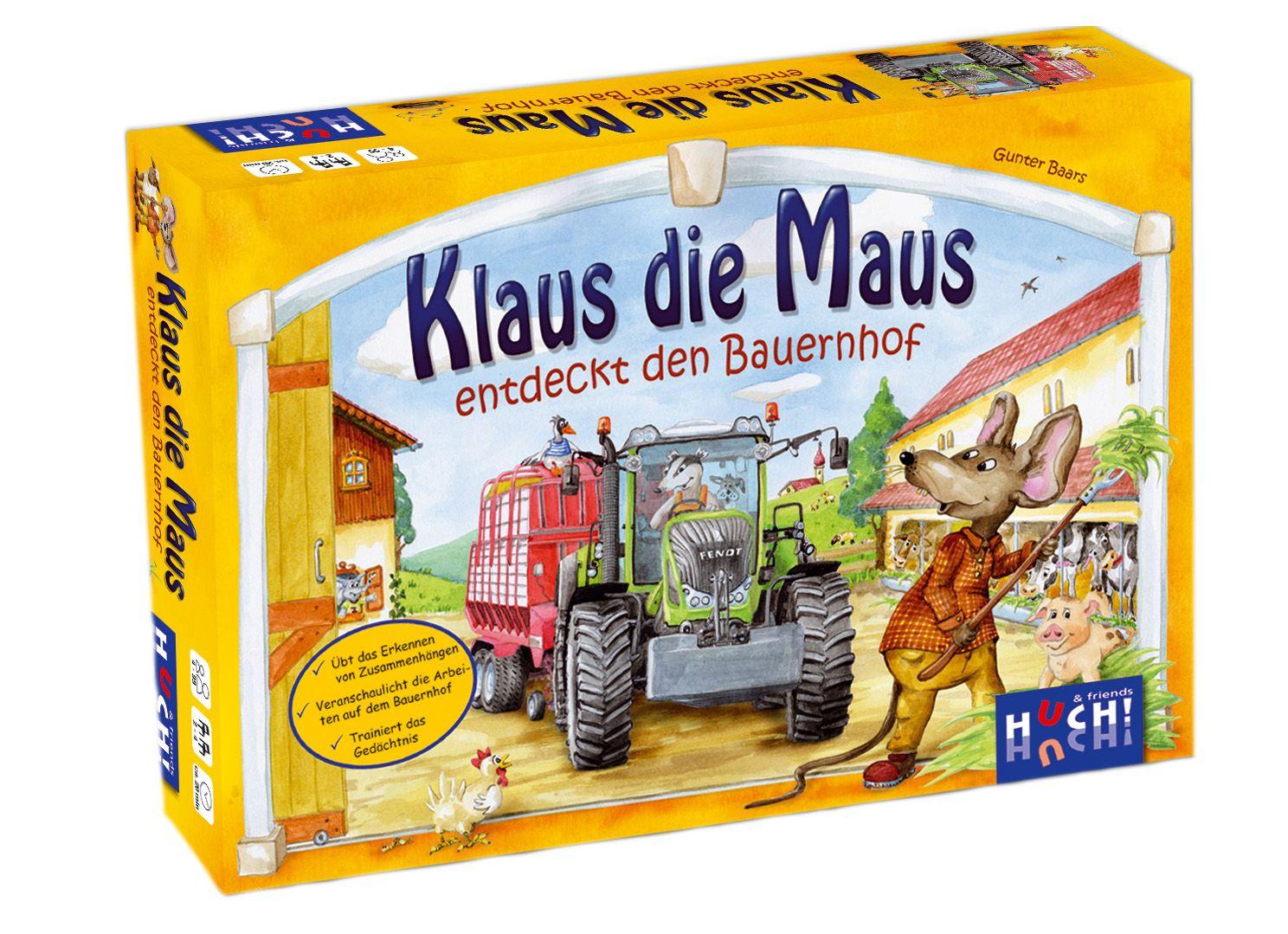 HUCH FRIENDS Huch! & friends Kinderspiel, »Klaus die Maus entdeckt den Bauernhof«