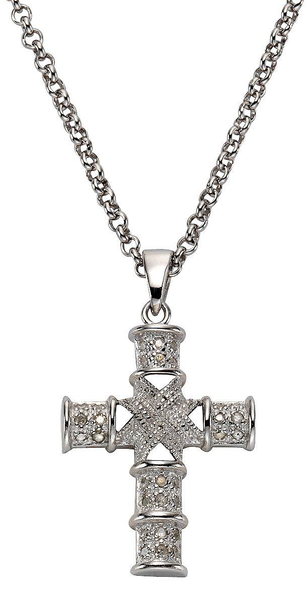 FIRETTI firetti Anhänger mit Diamanten, »Kreuz«
