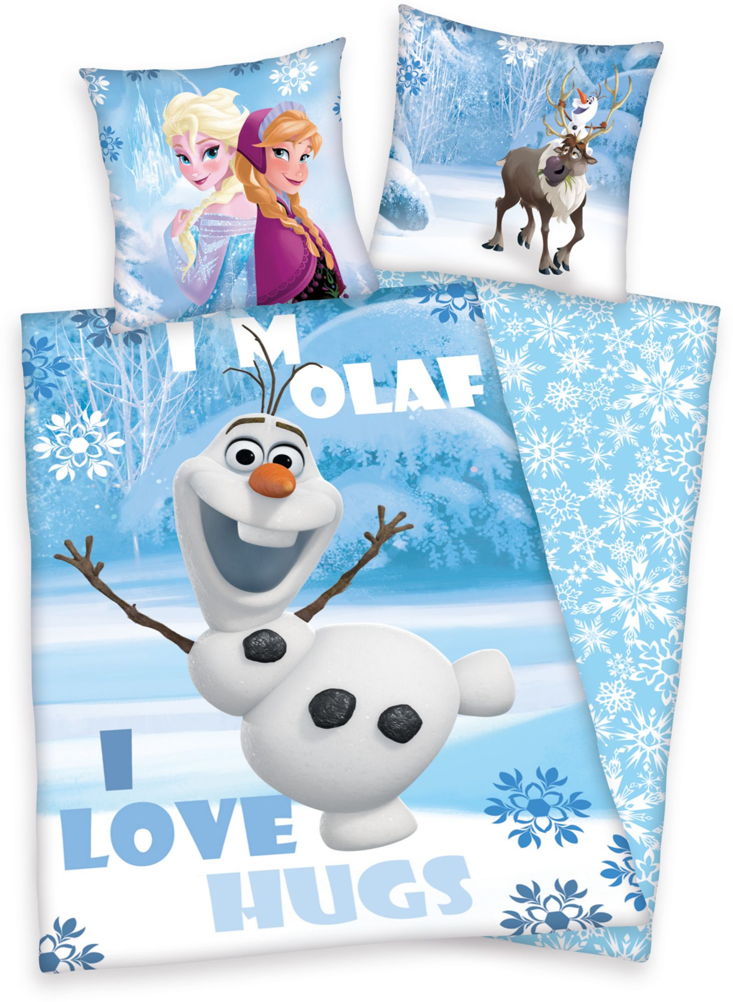 DISNEY Kinderbettwäsche, Disney, »Die Eiskönigin Olaf«, Motiv
