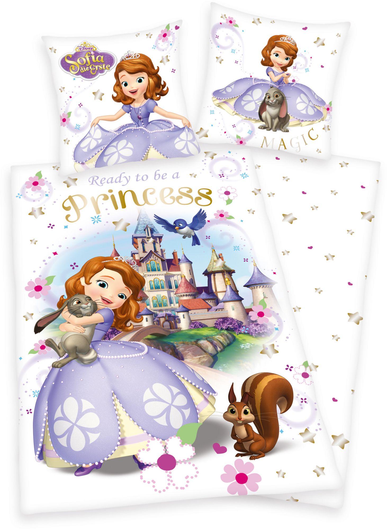 DISNEY Kinderbettwäsche, Disney, »Sofia Princess«, mit Schloss