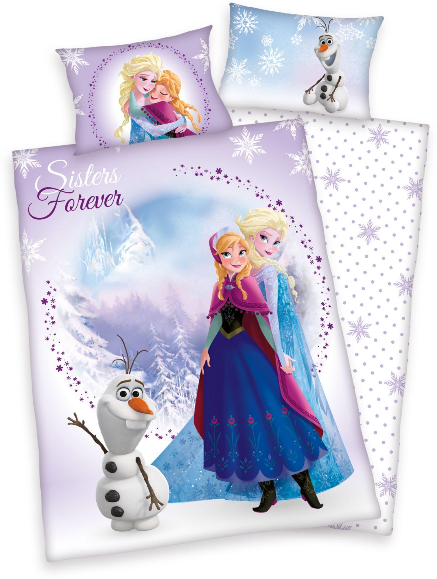 DISNEY Kinderbettwäsche, Disney, »Frozen Sisters«, Eiskönigin