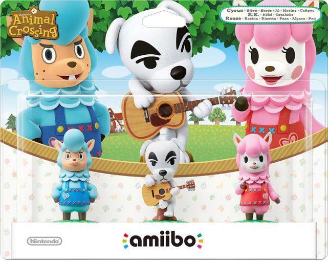 NINTENDO amiibo Animal Crossing 3er Figuren Set (K.K., Rosina, Björn)