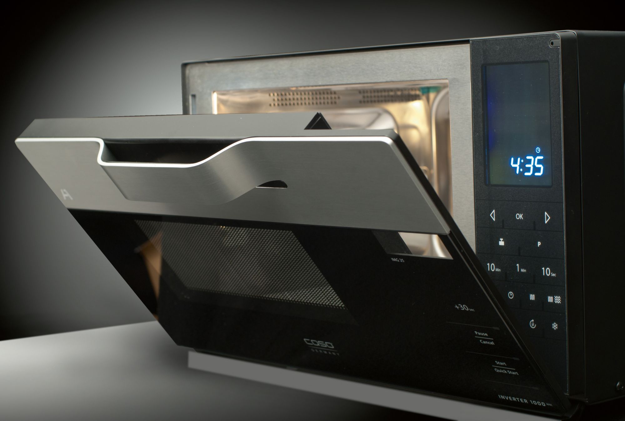 CASO DESIGN CASO Design Mikrowelle IMG25, mit Grill, 25 Liter Garraum, 900 Watt, Invertertechnik