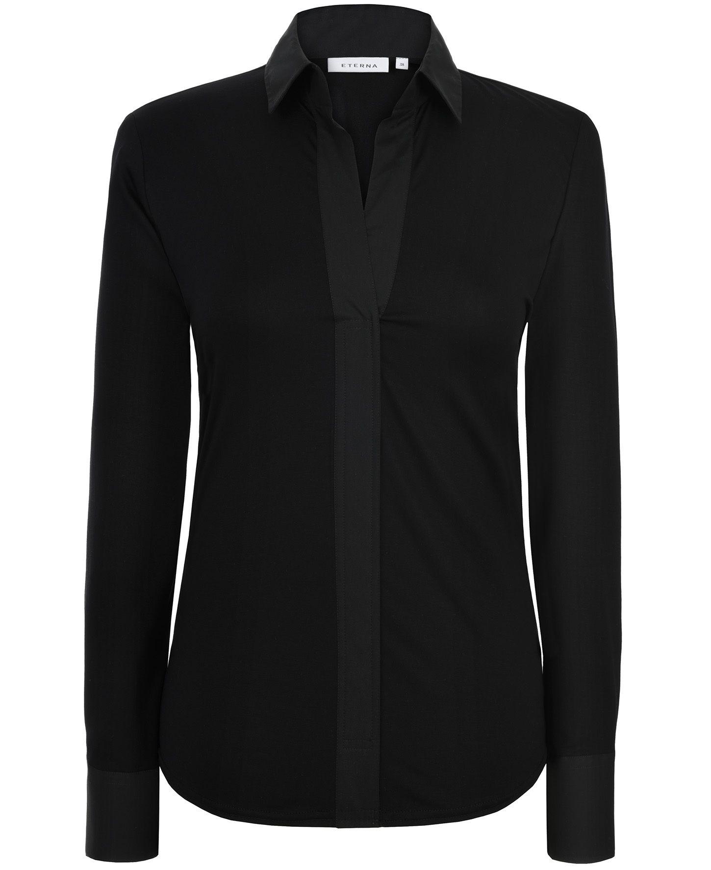 ETERNA  1/1-Arm Bluse »COMFORT FIT unifarben«