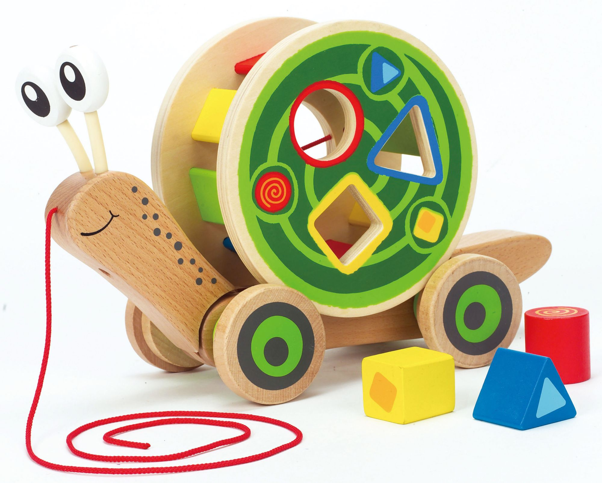 HAPE Hape Nachziehspielzeug mit Bauklötzen, »Schnecke«