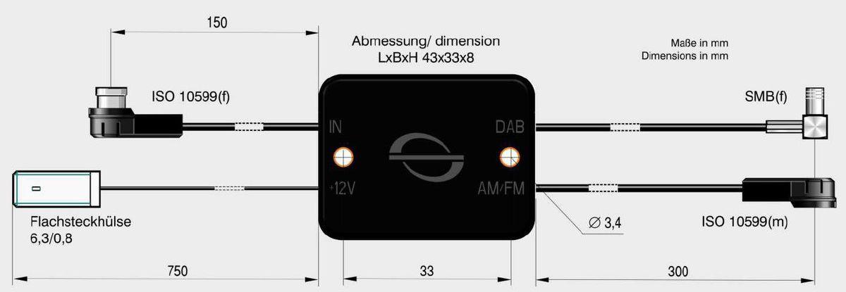 ANTENNE BAD BLANKENBURG Antenne Bad Blankenburg Rundfunkverstärker + Splitter »AM/FM ISO(m) u. DAB+ SMB(f)«
