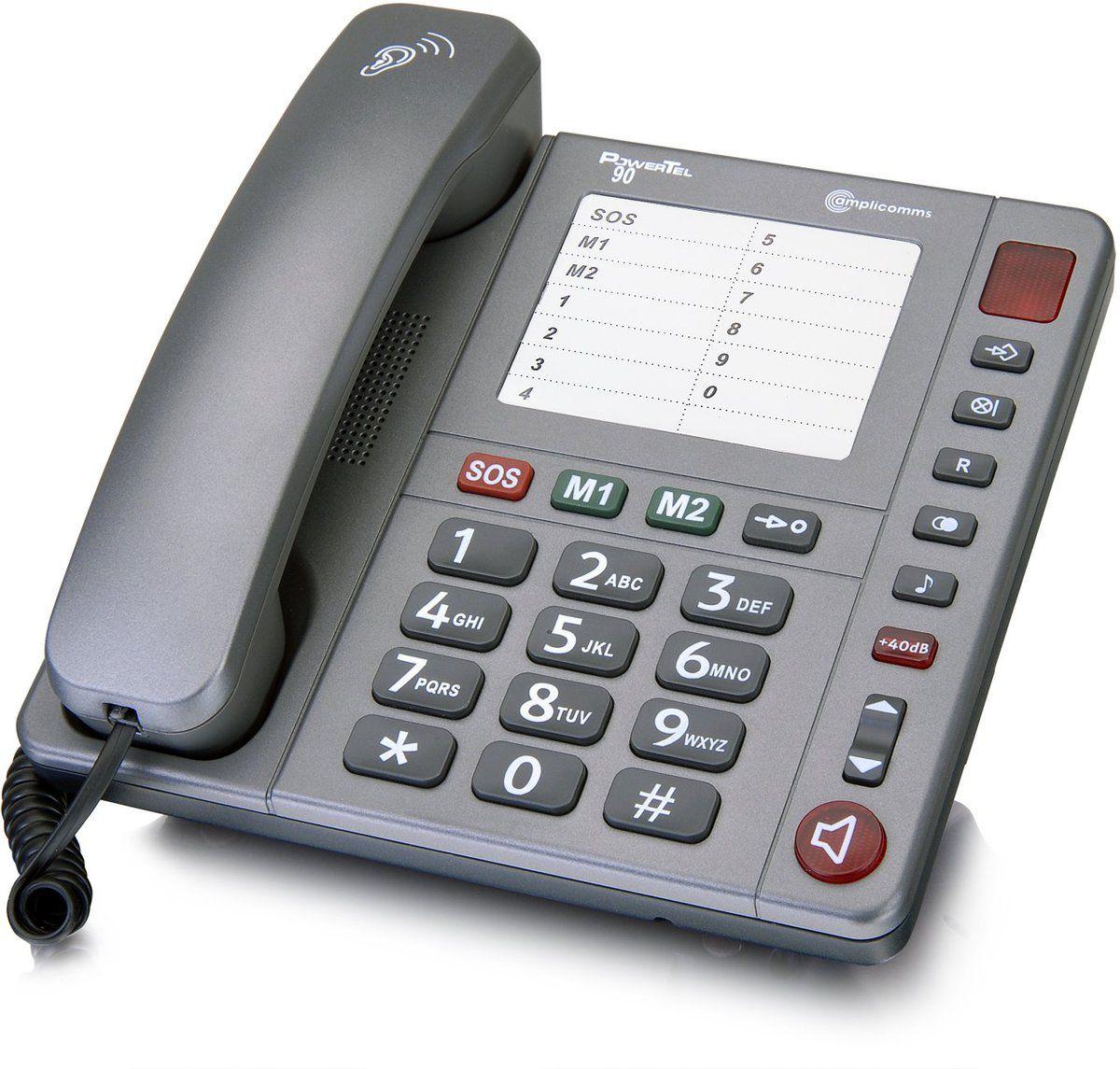 AMPLICOMMS amplicomms Großtastentelefon »PowerTel 90«