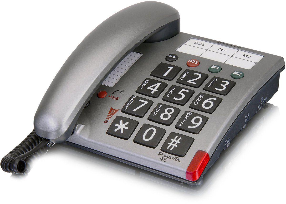 AMPLICOMMS amplicomms Großtastentelefon »PowerTel 46«