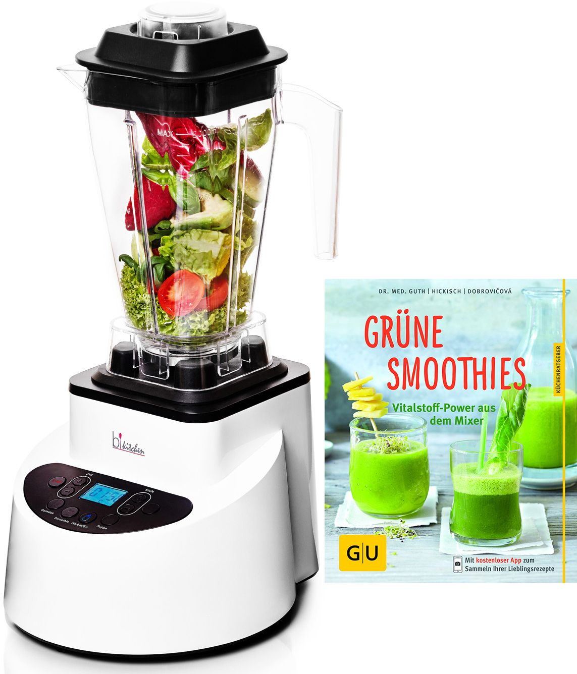 BKITCHEN bkitchen Vitamin-Power-Mixer smooth 320, 1200 Watt, 8 Stufen