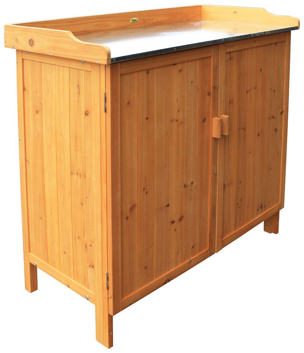 HABAU  Pflanztisch , aus Holz, BxTxH: 98x48x95 cm, braun