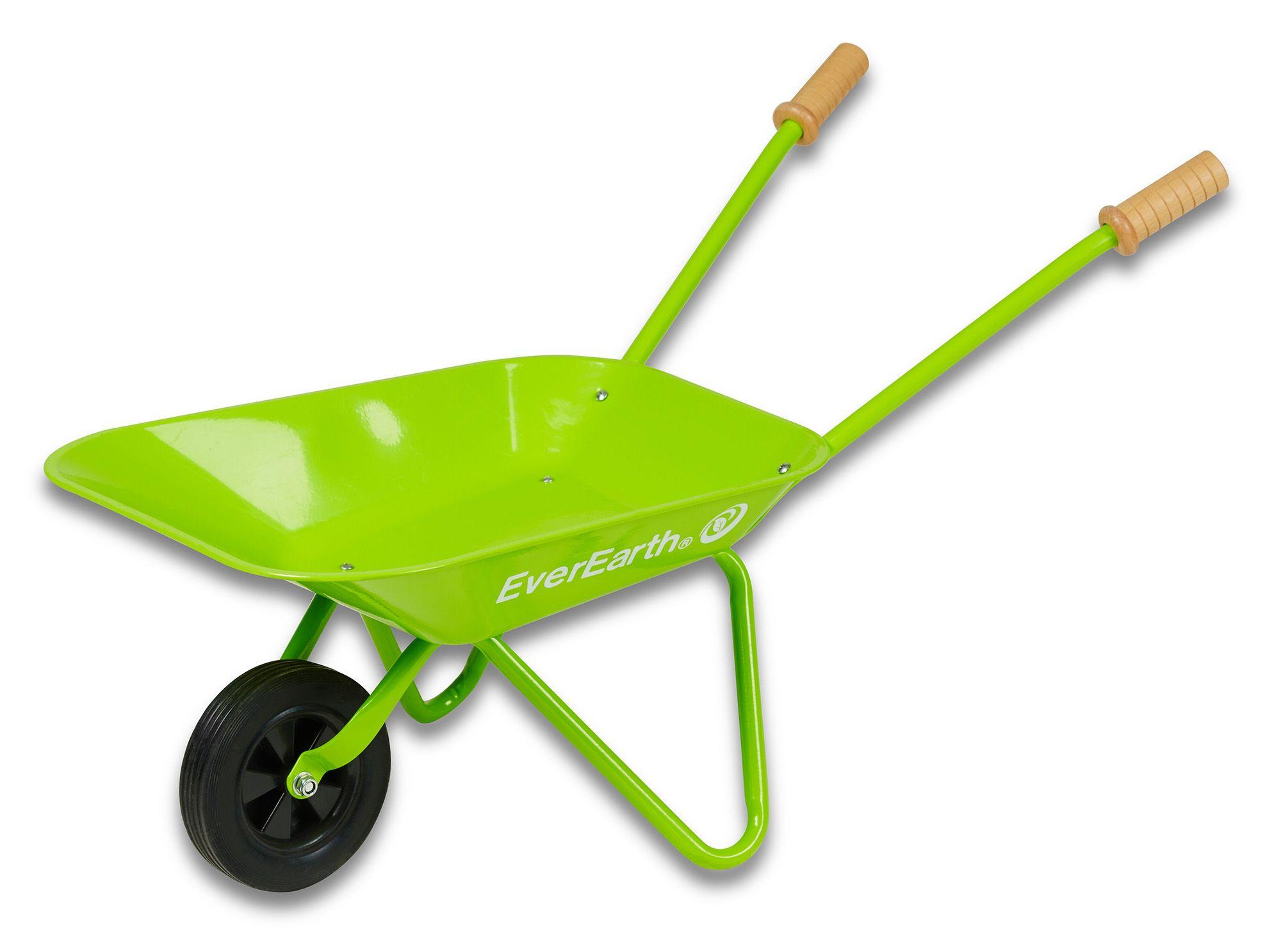 EVEREARTH EverEarth® Kinder-Schubkarre mit Griffen aus Holz