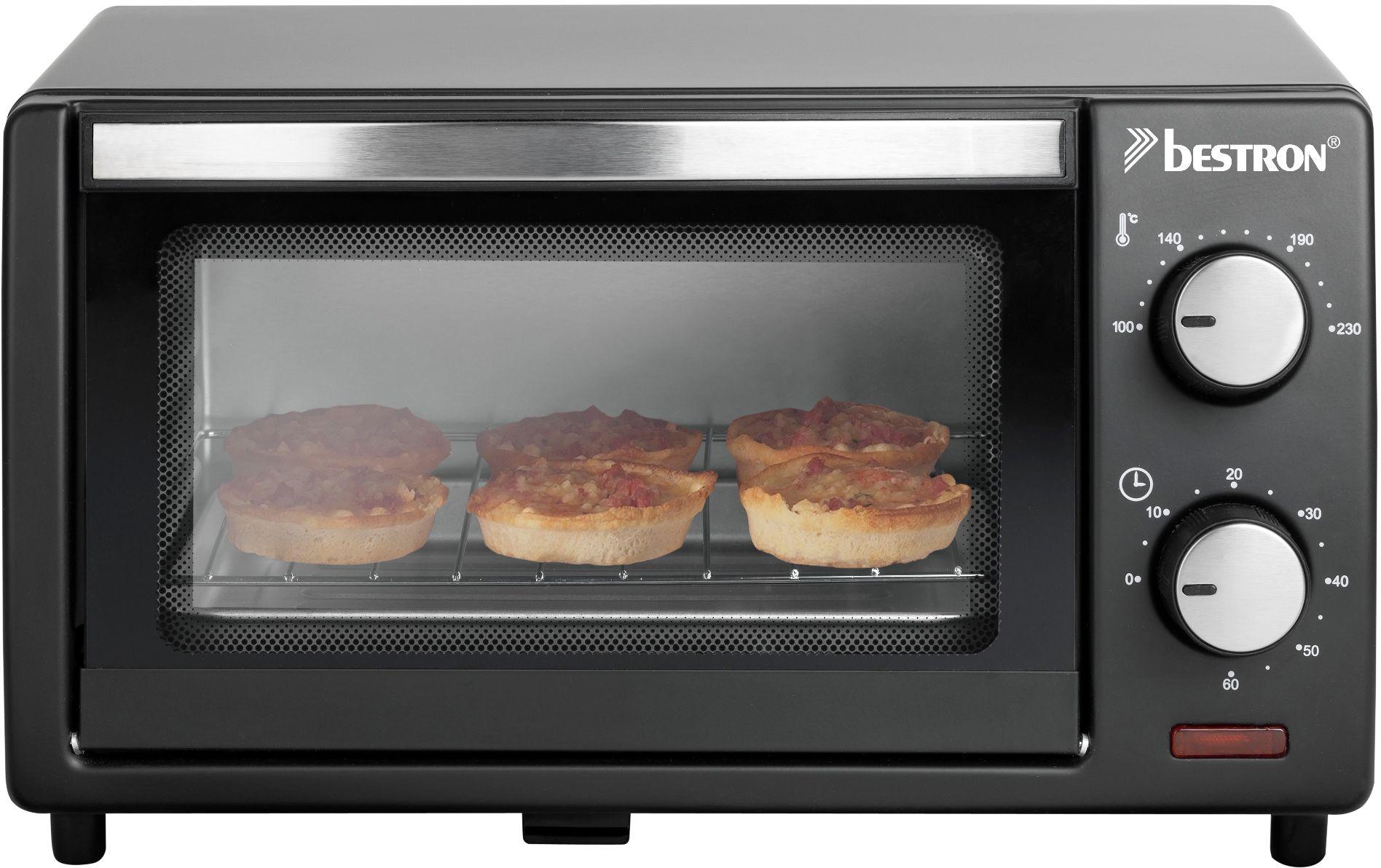BESTRON Bestron Mini Grill - Ofen AGL10, 800 Watt, schwarz