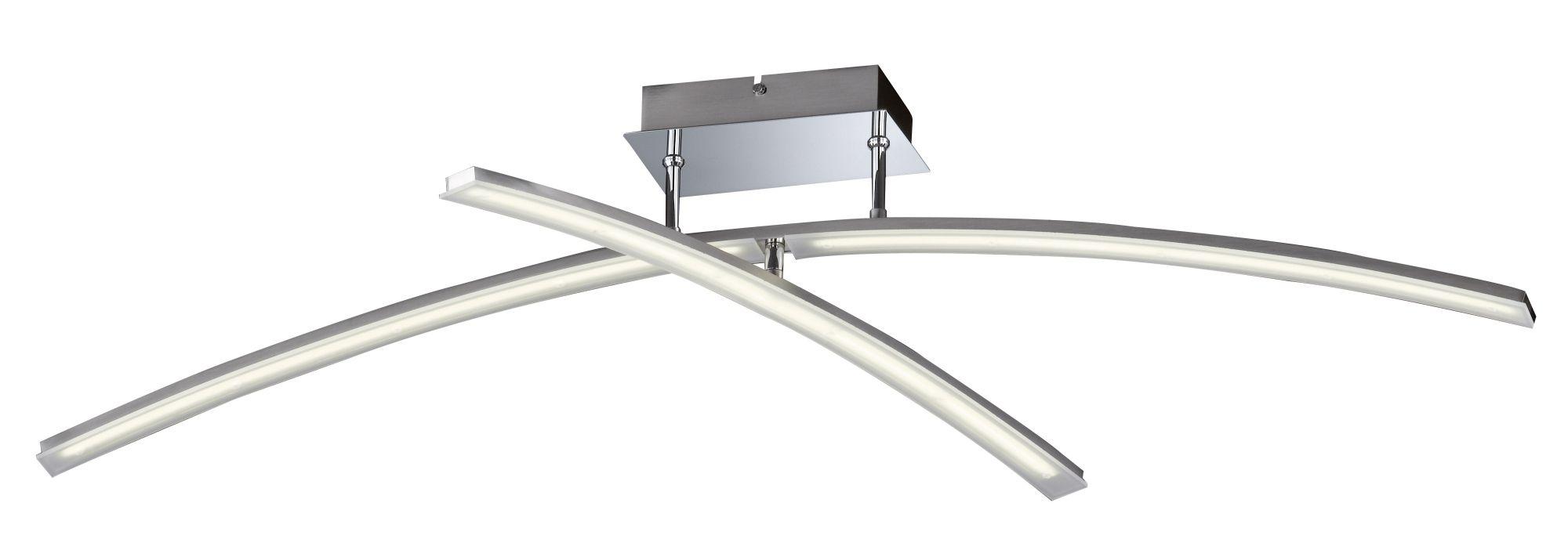 HONSEL LEUCHTEN Honsel Leuchten LED-Deckenlleuchte, 2flg., »MIKADO«