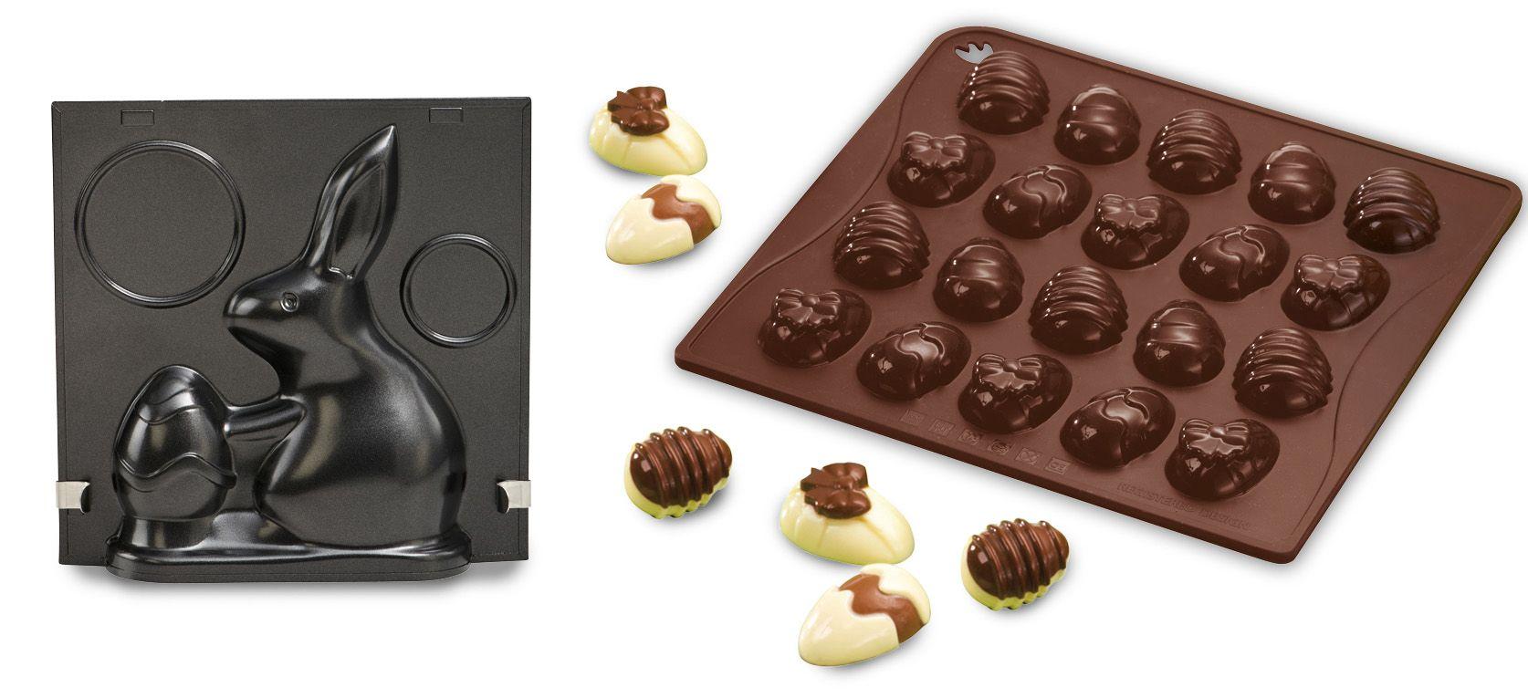 DR OETKER Dr. Oetker Vollbackform »Hugo Hase« + Confiserie Silikon-Schokoladenform »Ostereier«
