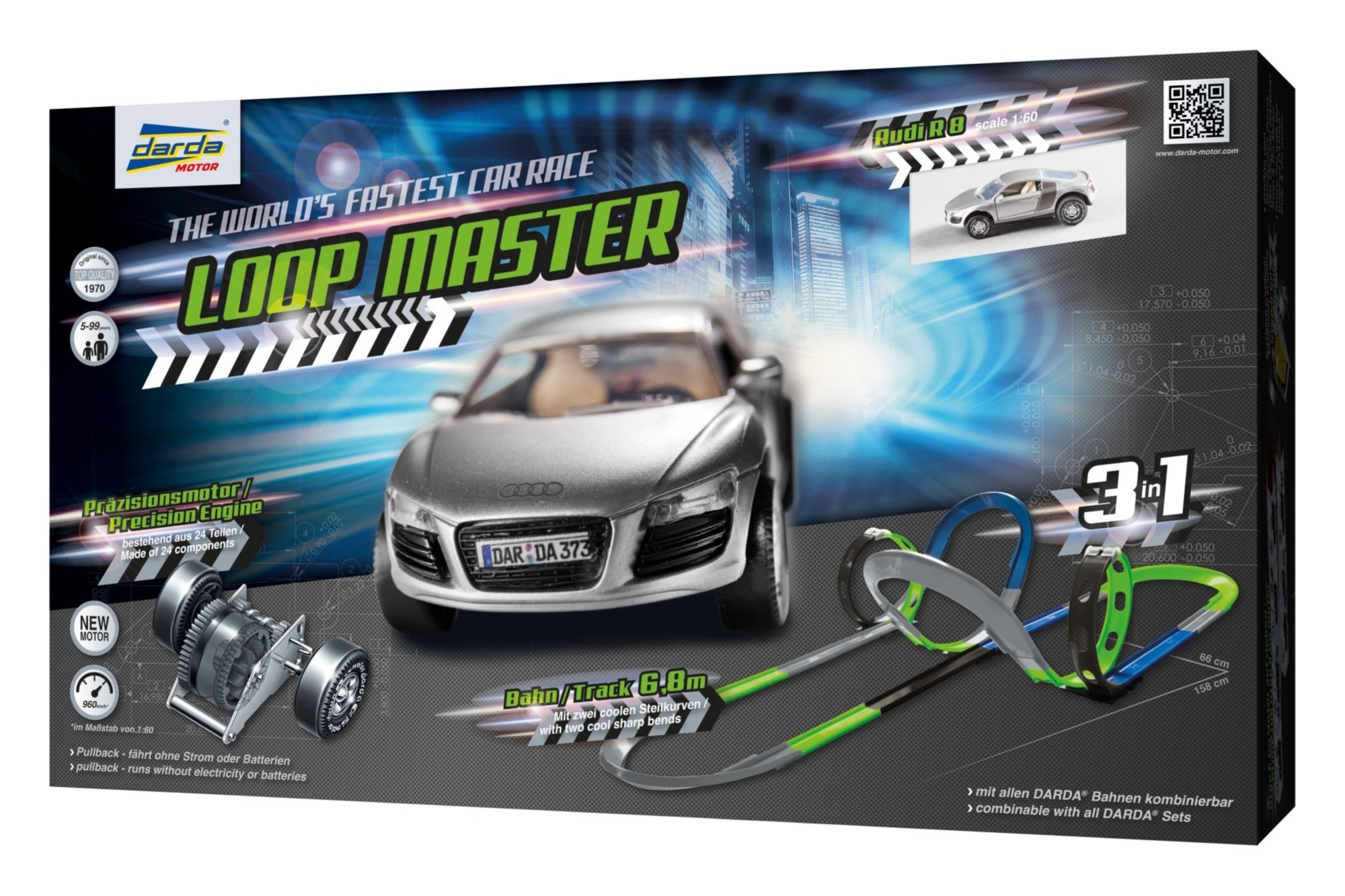 DARDA ® Autorennbahn mit Auto, »Loop Master«