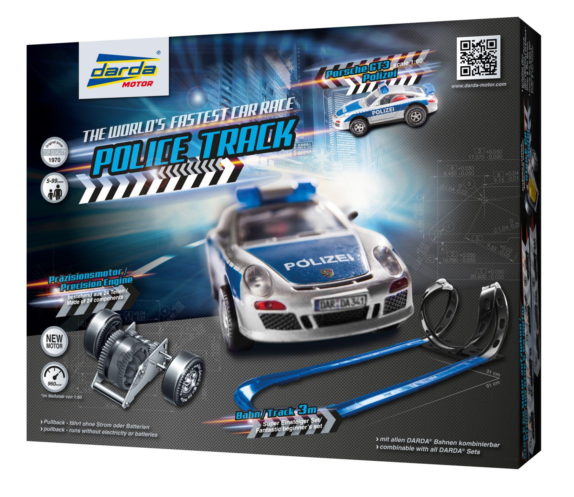 DARDA ® Autorennbahn mit Auto, »Police Track«