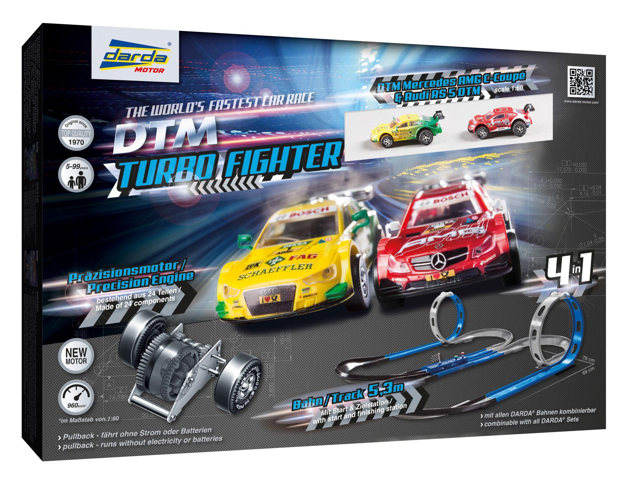 DARDA ® Autorennbahn mit 2 Autos, »DTM Turbo Fighter«